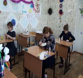 12 января прошло занятие по ДОП образованию по теме «Плетение из бумажной лозы»